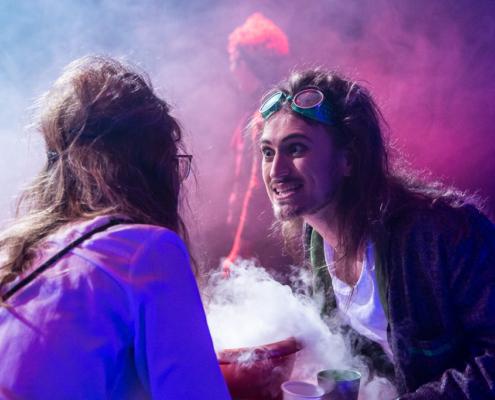 Wunschpunsch - Geldhexe Tyrannja Vamperl (Nadja Becker) und Beeltzebub Irrwitzer (Michael Gammel)